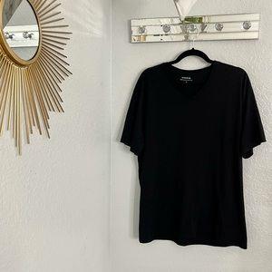 Vince Black V neck T-shirt